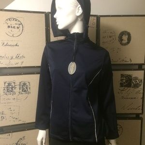 Navy blue spring casual jacket NWT